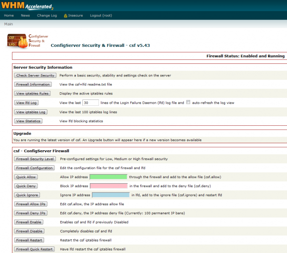 csf firewall cpanel plugin