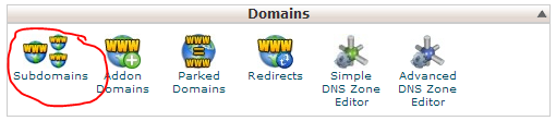 cPanel subdomains