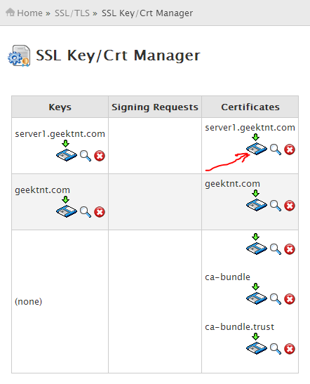 SSL Key Crt Manager
